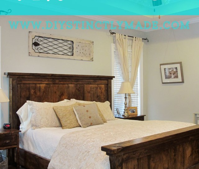 Diy Pottery Barn Farmhouse Bed Diystinctlymade Com