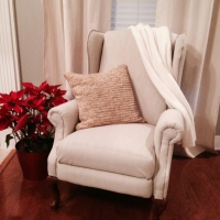 Re-uphosltered Wingback Chair
