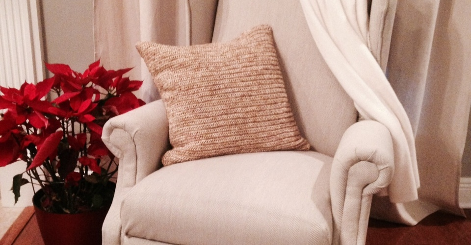 Re-upholstered Wingback Chair | DIYstinctlyMade.com