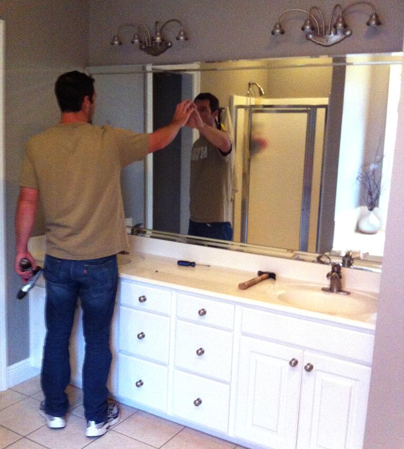Easy Framed Bathroom Mirrors | DIYstinctlyMade.com
