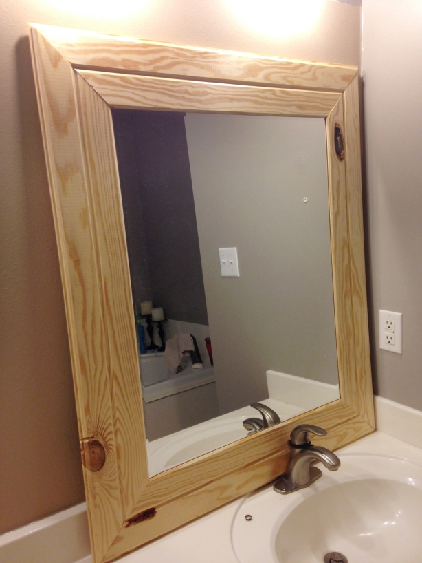 diy wood mirror frame