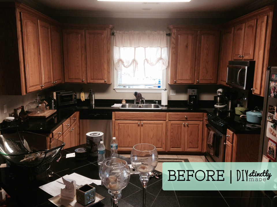 Perfect Painted Kitchen Cabinets | DIYstinctlyMade.com ·  Painted_Kitchen_Cabinets_BEFORE2