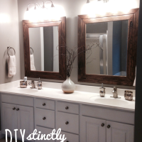 DIY Easy Framed Mirrors