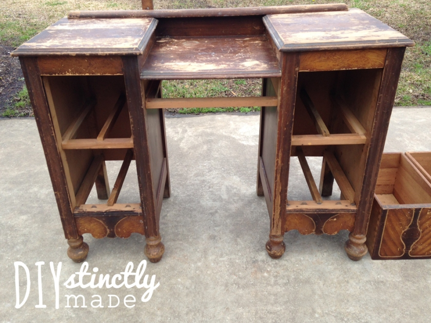 Refinished Antiqued Vanity | DIYstinctlyMade.com