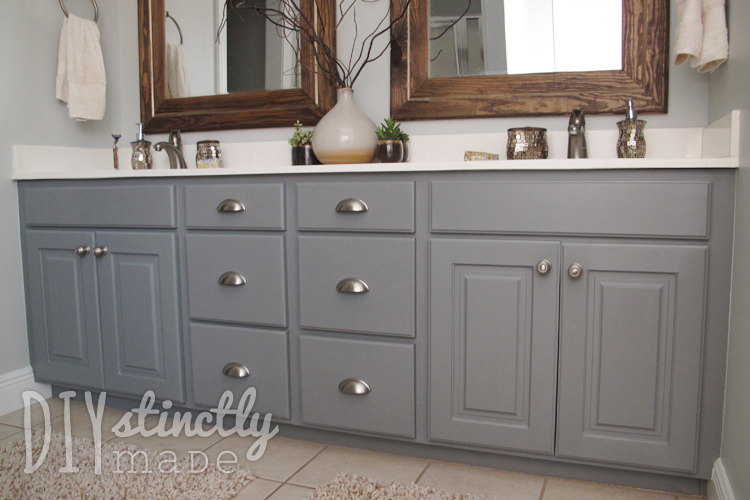 Painted bathroom cabinets diystinctly made Paint bathroom cabinets