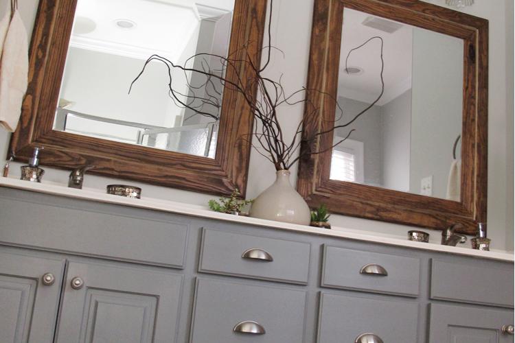 DIY Painted Bathroom Cabinets | DIYstinctlyMade.com