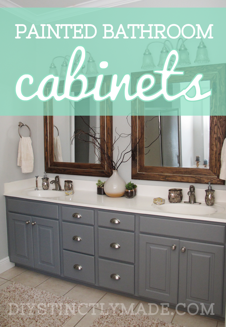 Painted Bathroom Cabinets DIYstinctly Made