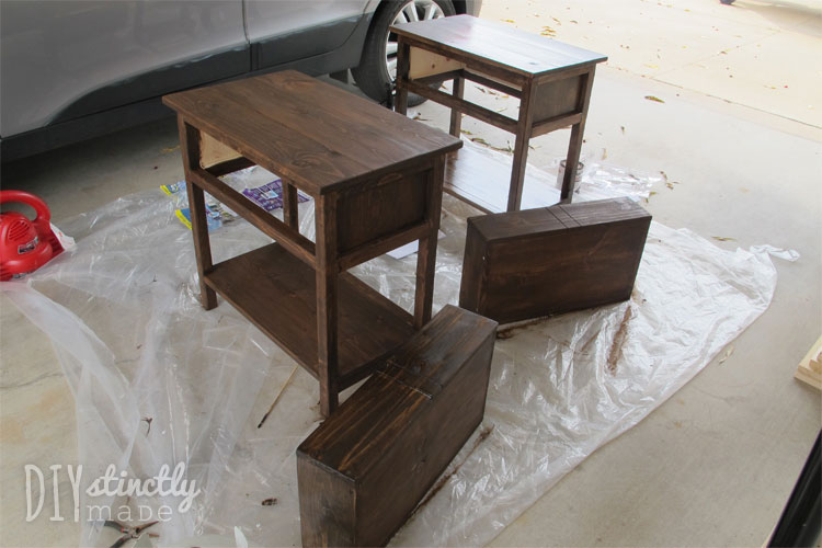 DIY Farmhouse Bedside Table | DIYstinctlyMade.com