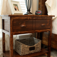 DIY Farmhouse Bedside Tables