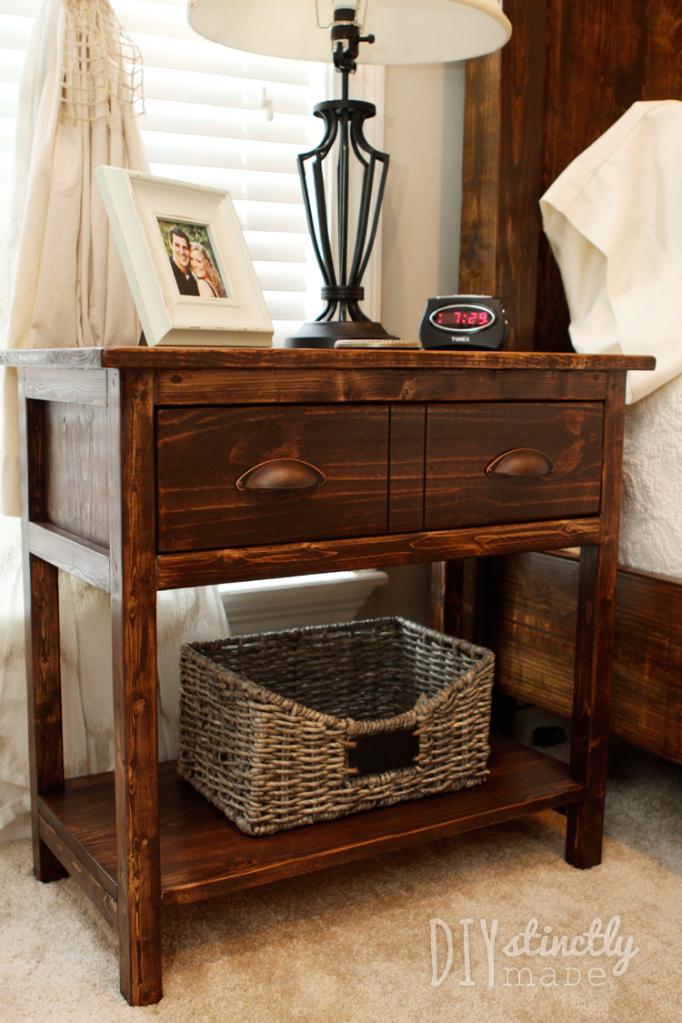 DIY Farmhouse Bedside Tables - DIYstinctly Made