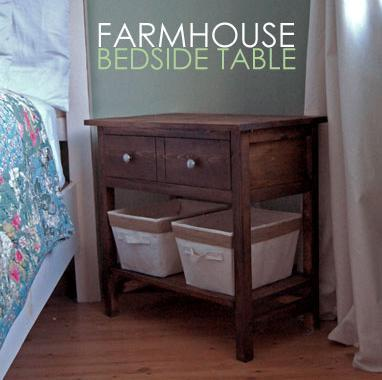 Farmhouse Bedside Table | Ana-white.com