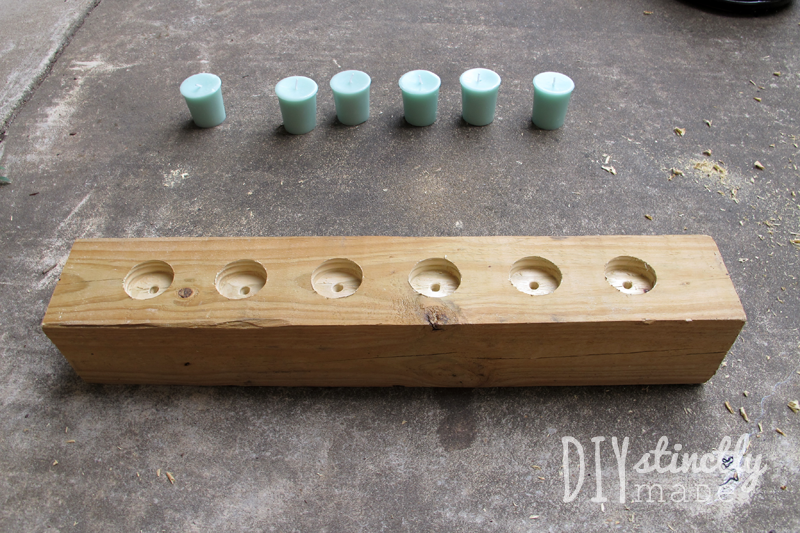 Easy DIY Color Block Candle Holder | DIYstinctlyMade.com
