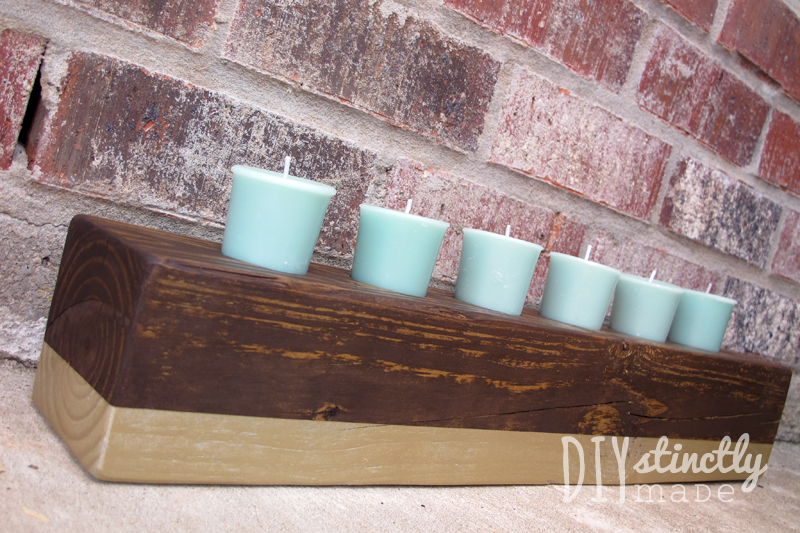 Easy DIY Color Block Candle Holder | DIYstinctlyMade.com