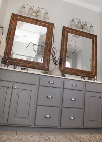 Painted Bathroom Cabinets | DIYstinctlyMade.com