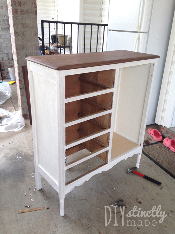 Refinished Child's Armoire | DIYstinctlyMade.com