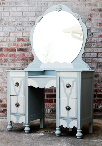 Refinished Antique Vanity | DIYstinctlyMade.com