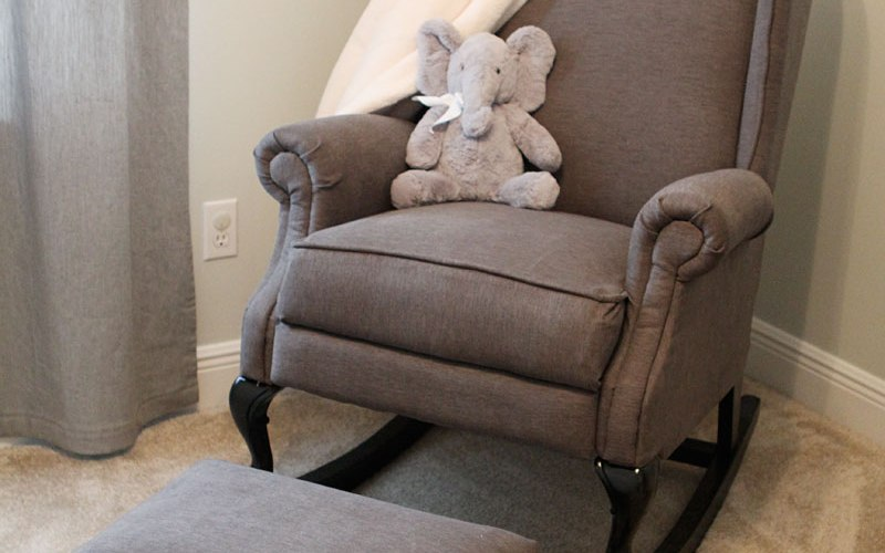 DIY Pottery Barn Wingback Rocking Chair | DIYstinctlymade.com