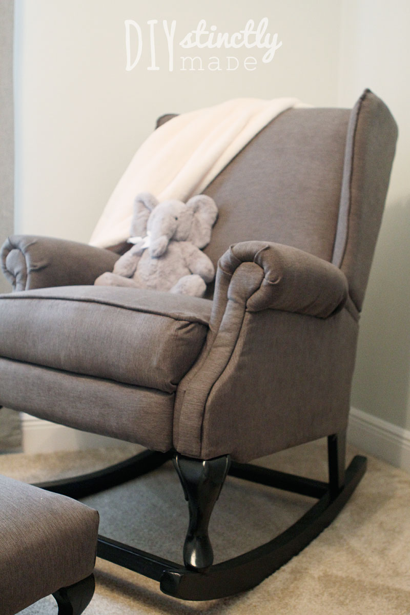 diy pottery barn rocking chair diystinctly made. Black Bedroom Furniture Sets. Home Design Ideas