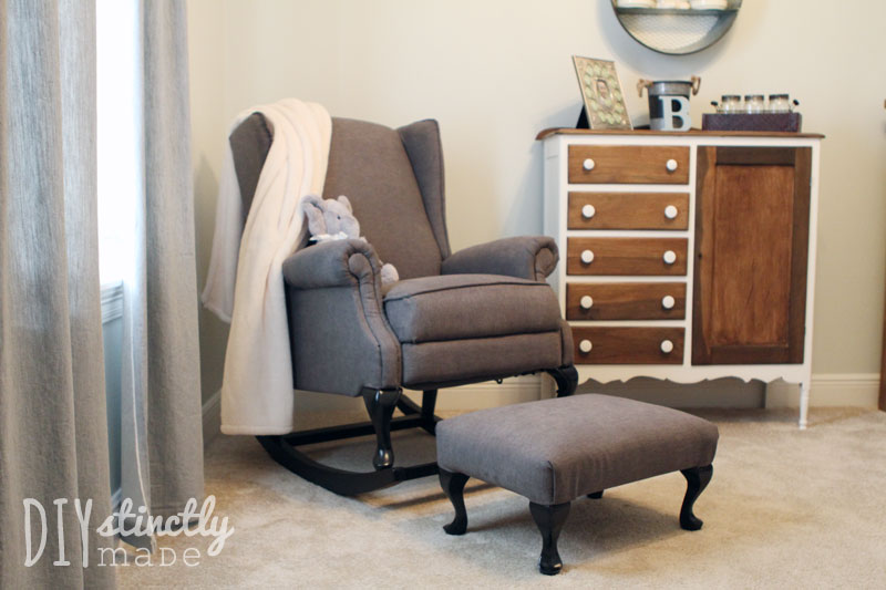DIY Pottery Barn Wingback Rocking Chair | DIYstinctlymade.com