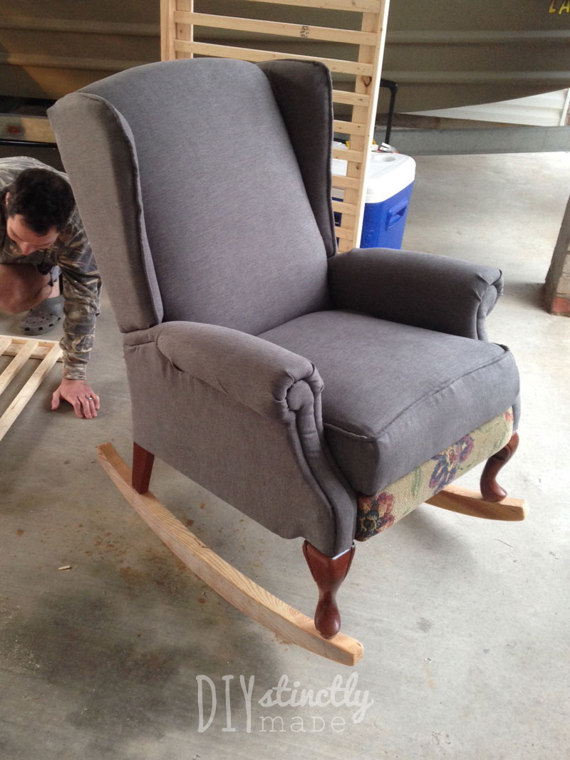 DIY Pottery Barn Rocking Chair | DIYstinctlyMade.com